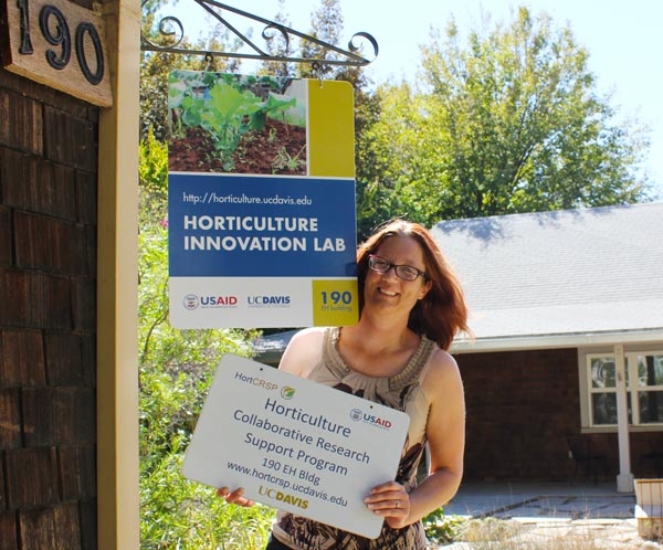 Amanda Crump associate director of Horticulture Innovation Lab explore potential partners