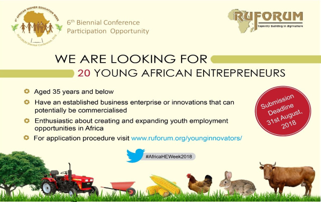 Call for RUFORUM Young African Entrepreneurs