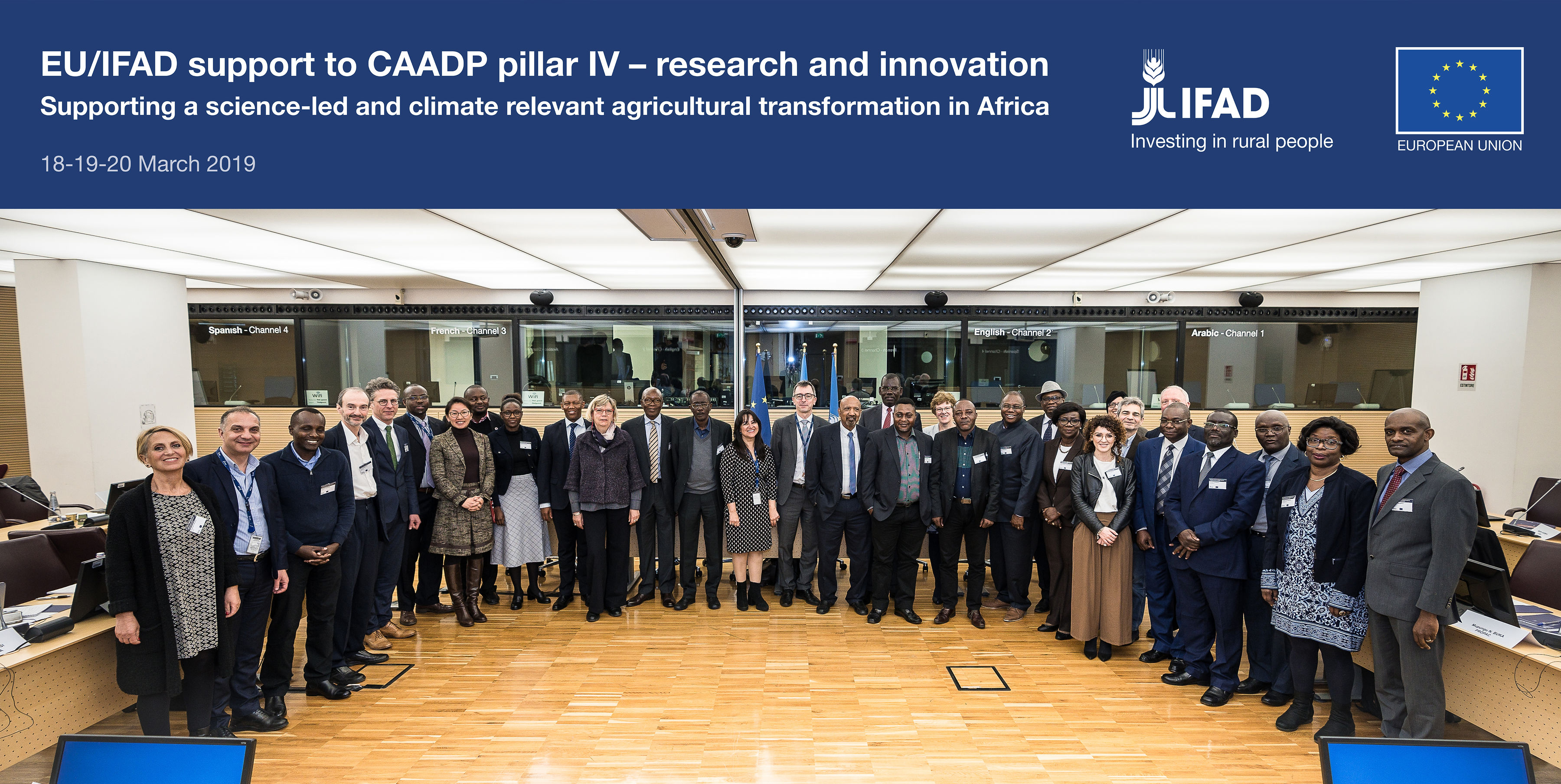 Agrinatura representative at workshop held at IFAD, Rome on 18-19 March.