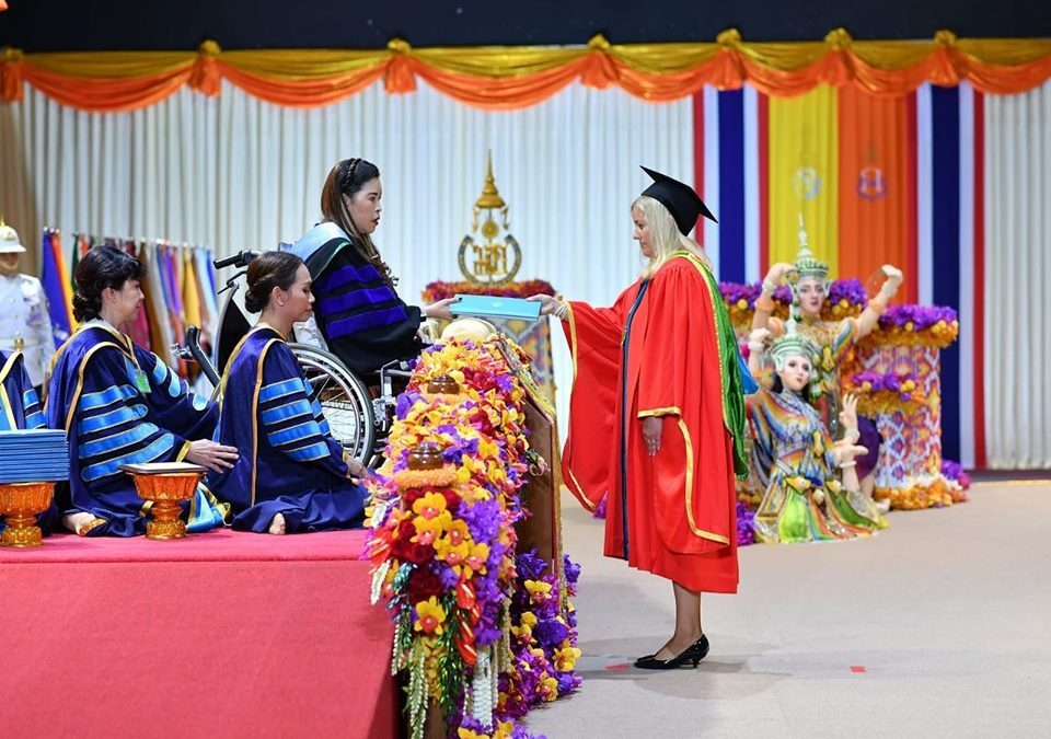 Petra Chaloupková was awarded an honorary doctorate degree at Prince of Songkla University