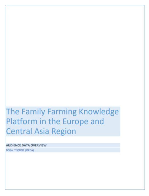 FFP Central Asia Region